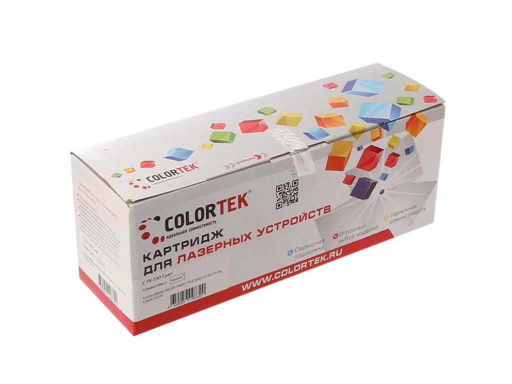 Картридж Colortek TK-590c Cyan для Kyocera FS-C2026/2126MFP