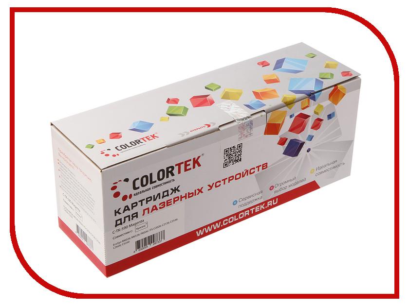 Картридж Colortek TK-590m Magenta для Kyocera FS-C2026/2126MFP картридж colortek black для 14854 14855 14856 14857 14858 14860 14861