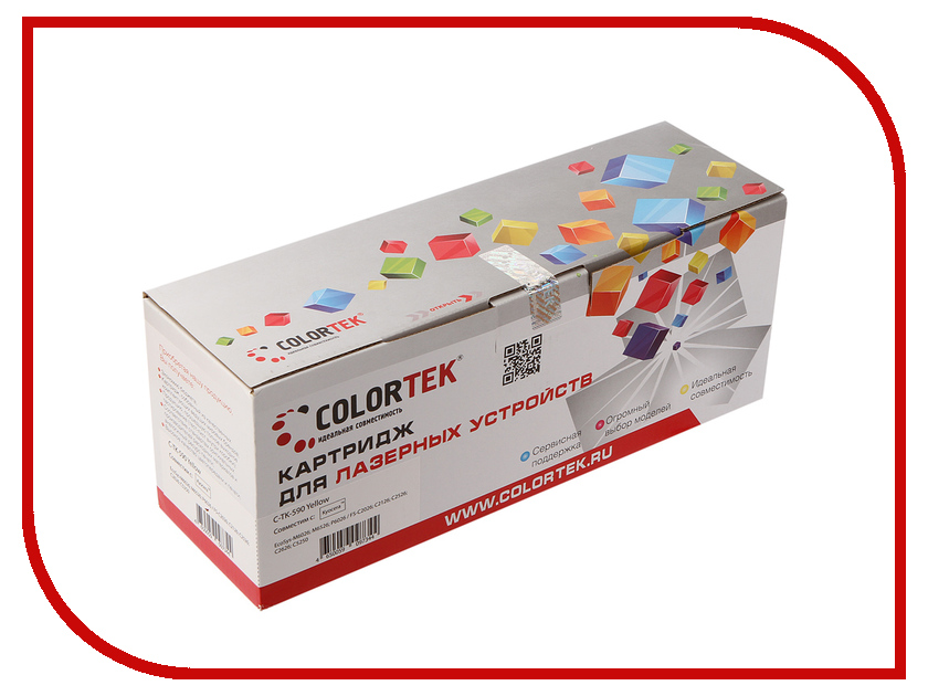Картридж Colortek TK-590y Yellow для Kyocera FS-C2026/2126MFP картридж colortek black для ml 3750