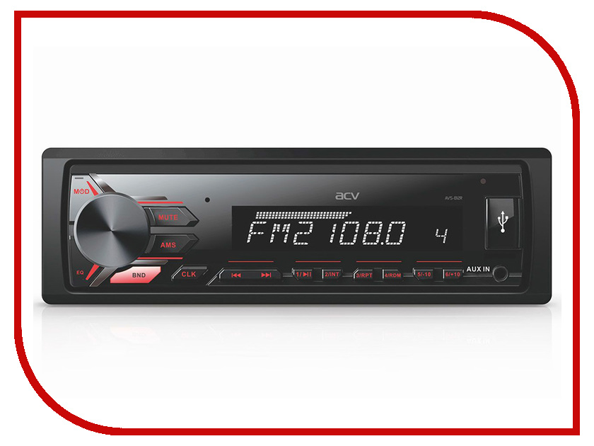 цена на Автомагнитола ACV AVS-812R Red
