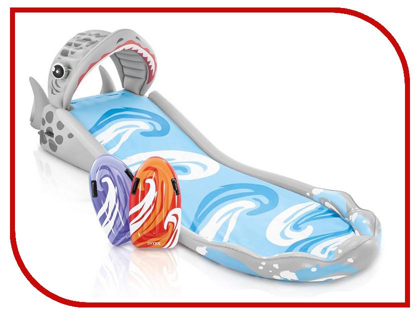Надувная игрушка Intex Горка надувная Акула 460x168x157cm 57159 надувная мебель