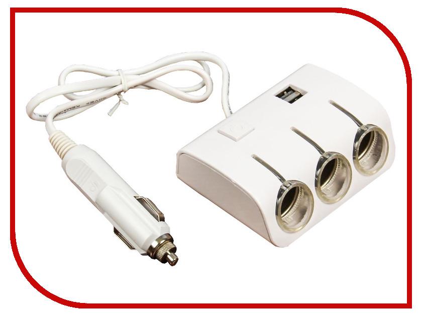 Разветвитель СИМА-ЛЕНД 3 входа + 2 USB 12/24 В 2514428 разветвитель сима ленд 3130973 black