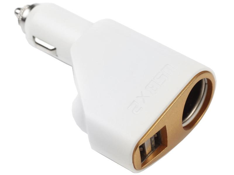 Разветвитель СИМА-ЛЕНД 2 USB 2.1 A 12/24 В White 2702585