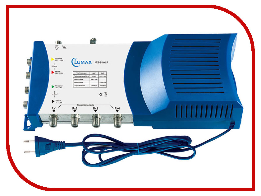 Мультисвитч Lumax MS-5401P sunspice ms классический