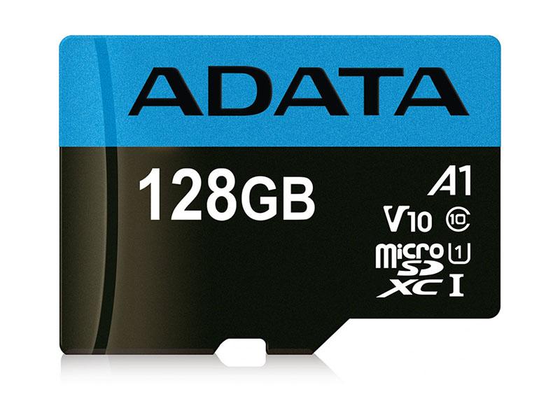 Карта памяти 128Gb - A-Data Premier Micro Secure Digital XC Class 10 UHS-I AUSDX128GUICL10A1-R