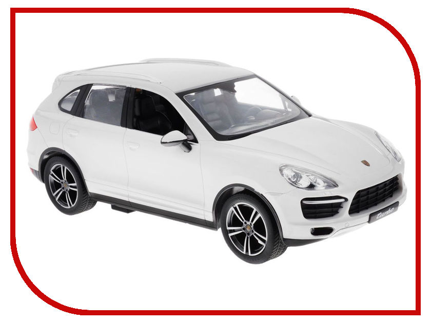 Игрушка Rastar Porsche Cayenne Turbo 1:14 42900 White rastar радиоуправляемая модель porsche cayenne turbo цвет белый масштаб 1 14