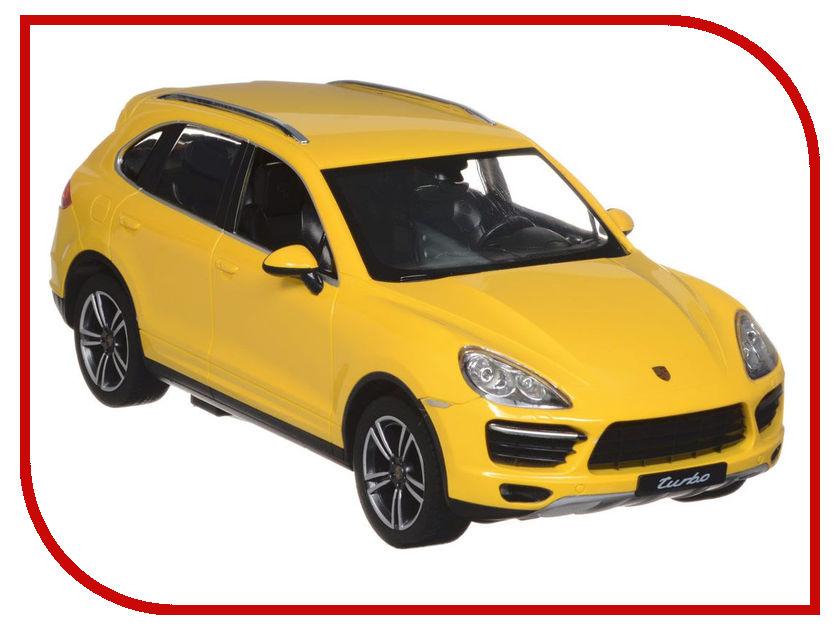 Игрушка Rastar Porsche Cayenne Turbo 1:14 42900 Yellow rastar радиоуправляемая модель porsche cayenne turbo цвет белый масштаб 1 14