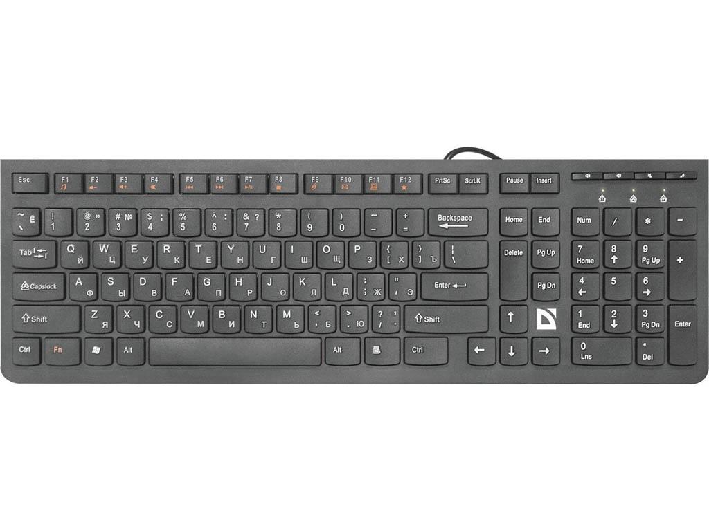 лучшая цена Клавиатура defender UltraMate SM-530 RU Black USB