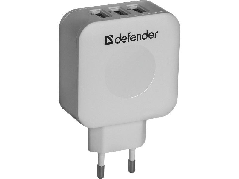 Зарядное устройство Defender UPA-30 3xUSB 83535 defender upa 04 сетевое зарядное устройство