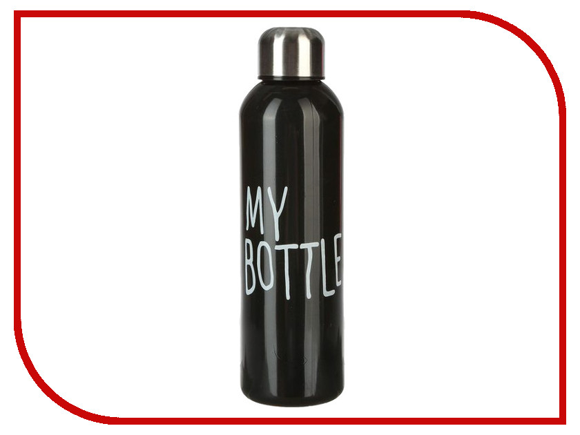 Бутылка СИМА-ЛЕНД My Bottle 500ml Black 2463605 usb rechargeable 500ml healthy portable hydrogen rich water cup transparent glass bottle with lid