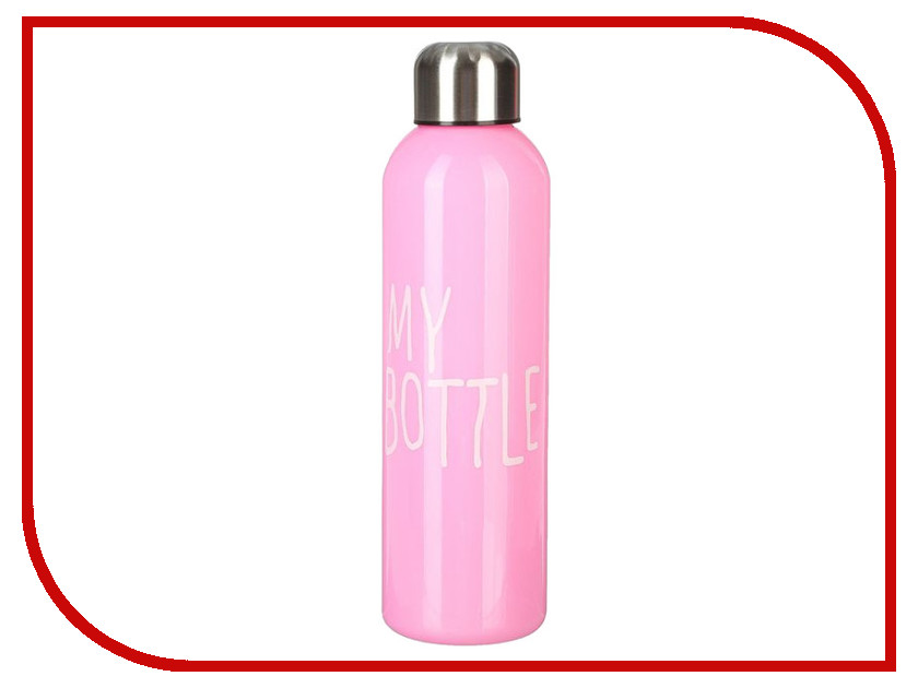 Бутылка СИМА-ЛЕНД My Bottle 500ml Pink 2463603 usb rechargeable 500ml healthy portable hydrogen rich water cup transparent glass bottle with lid