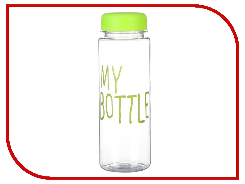 Бутылка СИМА-ЛЕНД My Bottle 500ml Green 2463597 usb rechargeable 500ml healthy portable hydrogen rich water cup transparent glass bottle with lid