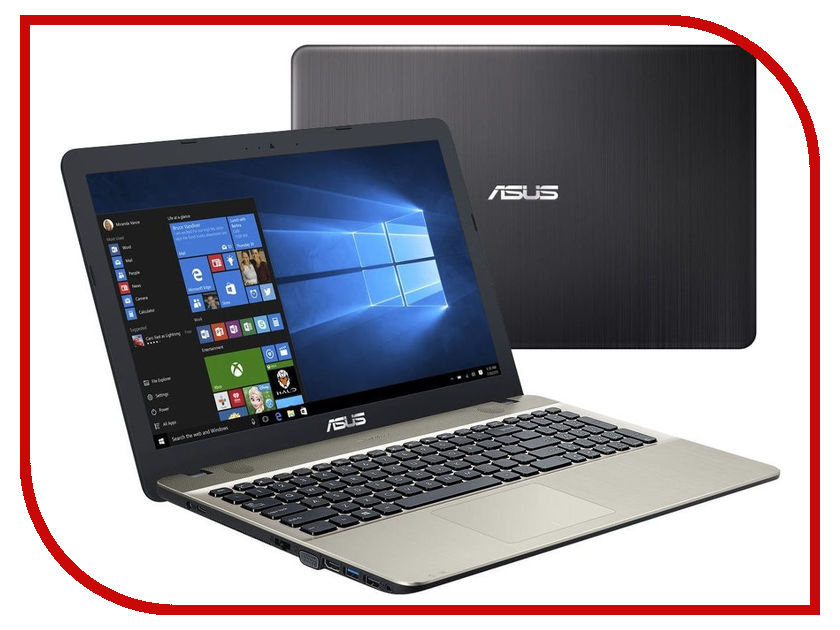Ноутбук ASUS VivoBook X541NA-GQ558T 90NB0E81-M10300 (Intel Celeron N3450 1.1 GHz/4096Mb/128Gb SSD/Intel HD Graphics/Wi-Fi/Bluetooth/Cam/15.6/1366x768/Windows 10 64-bit)