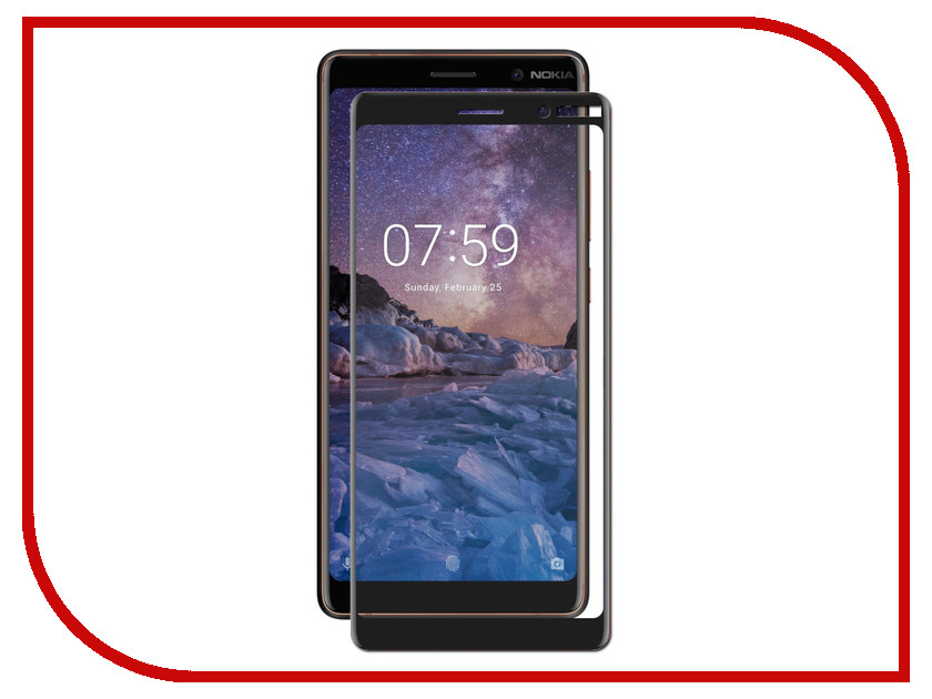 Аксессуар Защитное стекло для Nokia 7 Plus Zibelino TG Full Screen 0.33mm 2.5D Black ZTG-FS-NK-7PL-BLK