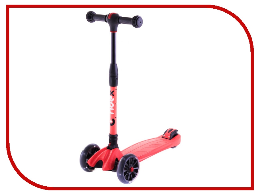 Самокат Ridex 3D Stark 135/90 Red цена