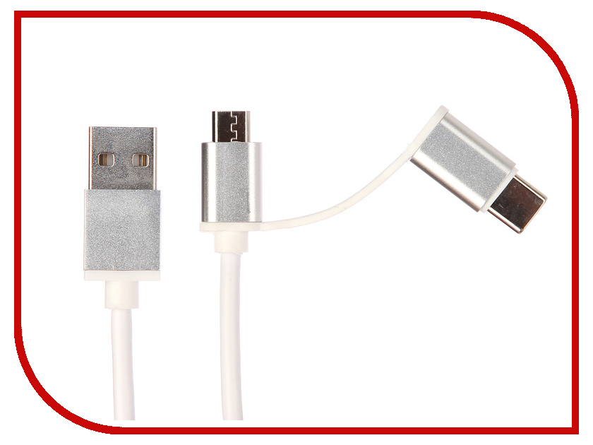 Аксессуар Red Line USB - USB Type-C/microUSB White кабель red line usb – usb type c 1m green