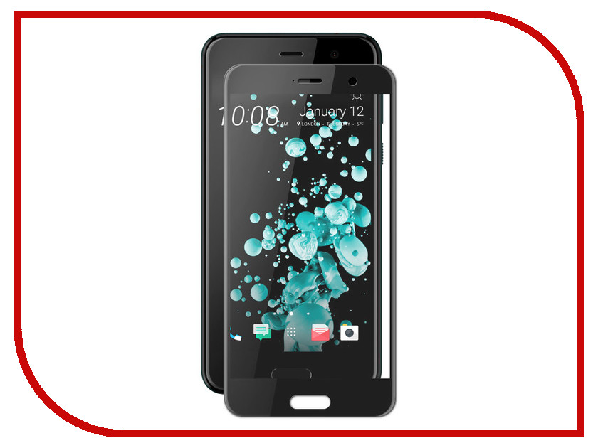 Аксессуар Защитное стекло для HTC U Play Red Line Full Screen Tempered Glass Black УТ000014143 matte protective pe back case for htc one x s720e red