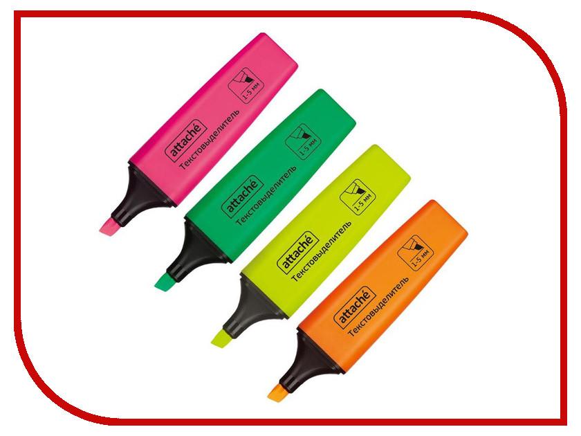 Маркер Attache Colored 1-5mm набор 4 цвета 629205 qfp64 tqfp64 lqfp64 pqfp64 otq 64 0 5 05 qfp ic test burn in socket enplas 0 5mm pitch