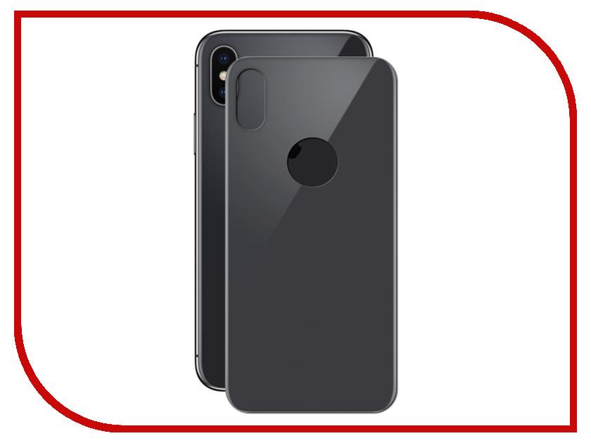 Аксессуар Защитное стекло iPhone X Red Line Full Screen Tempered Glass Black задняя часть УТ000013942