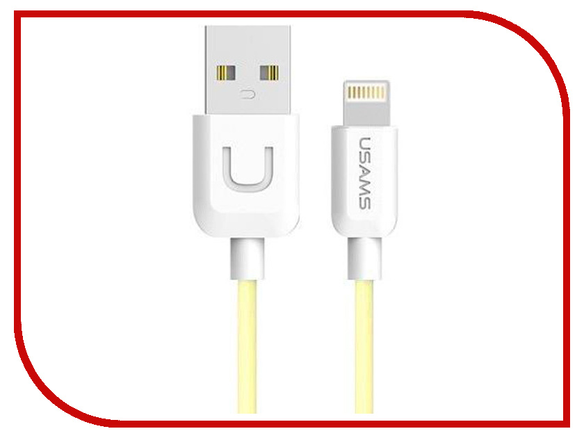 Аксессуар USAMS U-Turn Series US-SJ097 USB - Lighting (8-pin) 1.0m Yellow