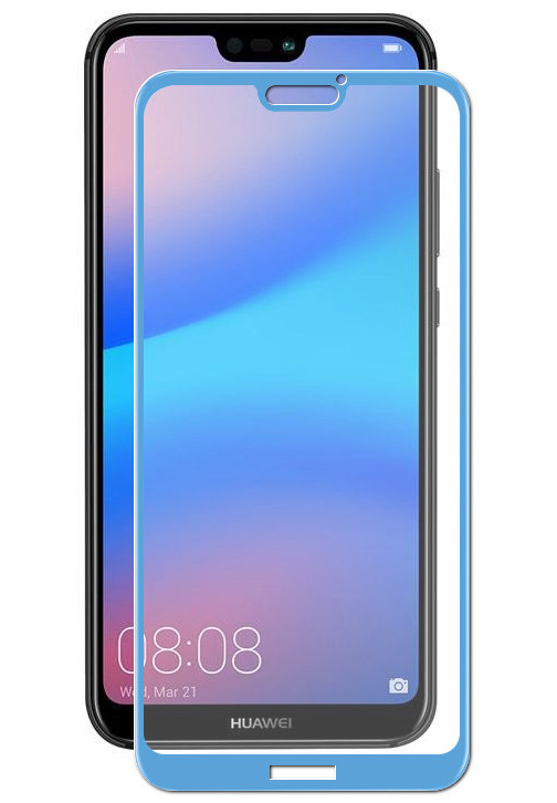 Аксессуар Защитное стекло Red Line для Huawei P20 Lite Full Screen tempered Glass Blue УТ000015080 аксессуар защитное стекло huawei p20 lite red line full screen tempered glass black