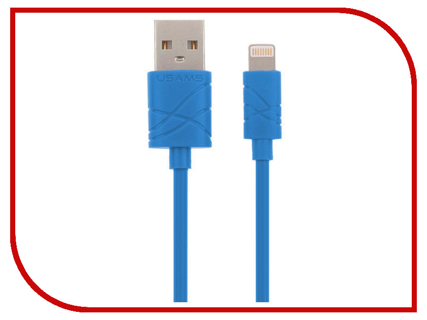 Аксессуар USAMS U-Gee Series US-SJ038 USB - Lighting (8-pin) Blue