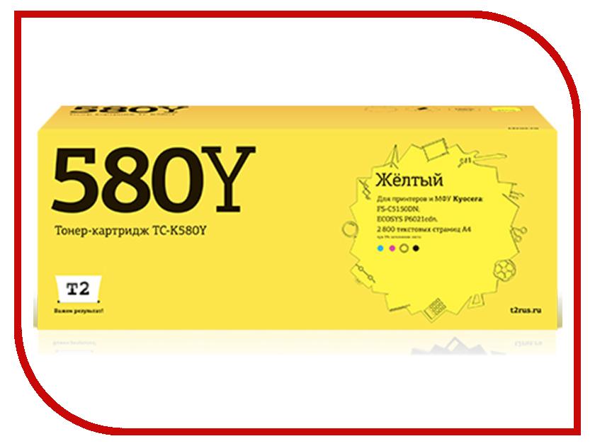 Картридж T2 TC-K580Y Yellow для Kyocera FS-C5150DN/ECOSYS P6021cdn
