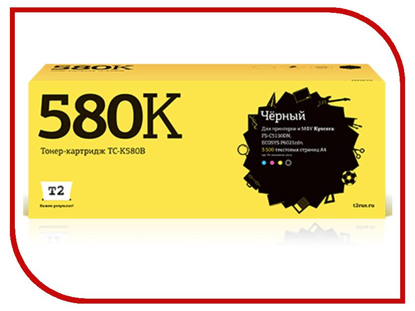 Картридж T2 TC-K580B Black для Kyocera FS-C5150DN/ECOSYS P6021cdn картридж t2 tc k3100 для kyocera fs 2100d 2100dn ecosys m3040dn m3540dn черный 12500стр