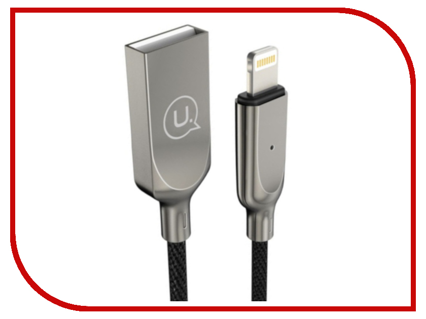 Аксессуар USAMS U-Sun Series US-SJ154 USB - Lighting (8-pin) 1.0m Black аксессуар usams u flow series us sj165 usb lightning 1 2m black