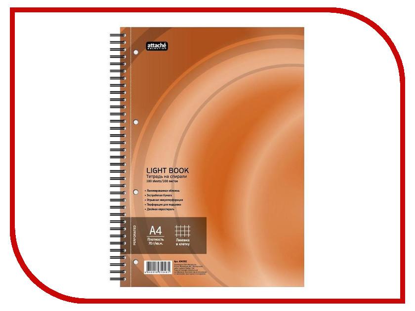 Бизнес-тетрадь Attache Selection LightBook A4 100 листов Orange 494592 бизнес тетрадь attache waves a5 100 листов orange 272859