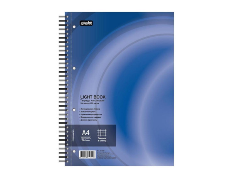 Бизнес-тетрадь Attache Selection LightBook A4 100 листов Blue 494589