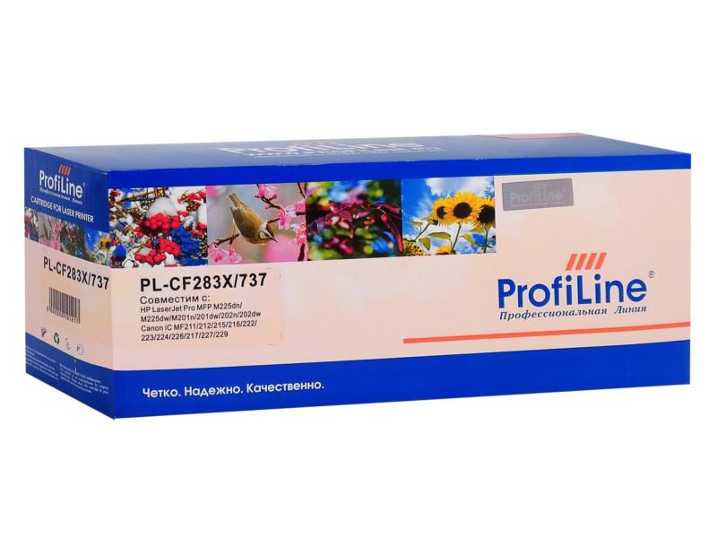 Картридж ProfiLine PL-CF283X/737 для HP LaserJet Pro MFP M127fn/M127fw/M201n/dw/M225dn/dw/Canon iC MF211/212/215/216/222/223/224/226/217/227/229 2400k