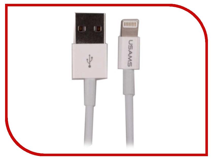 Аксессуар USAMS US-SJ115 USB - Lighting (8-pin) 1.5m White bonatech xh2 54 2p straight needle pin w connectors plug terminals white 10 set
