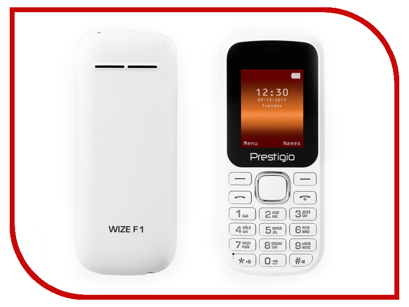 Сотовый телефон Prestigio Wize F1 White