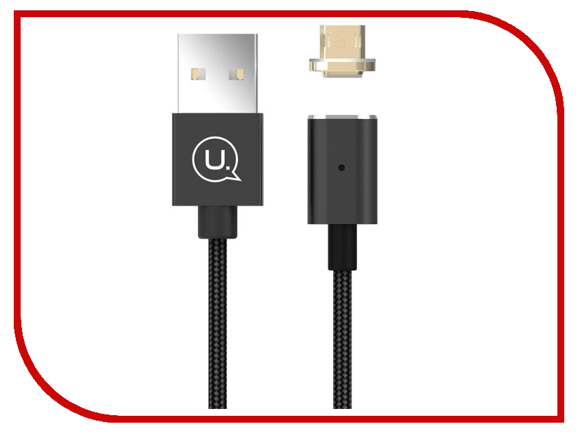 Аксессуар USAMS U-Link Series US-SJ133 USB - MicroUSB Magnet Cable Black аксессуар usams u flow series us sj165 usb lightning 1 2m black