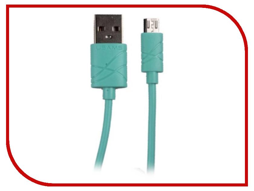 Аксессуар USAMS U-Gee Series US-SJ039 USB - MicroUSB Green аксессуар usams us sj199 usb lightning 1 2m blue