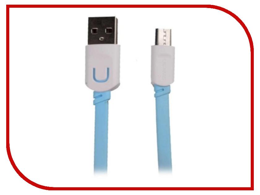 Аксессуар USAMS U-Trans Series US-SJ012 USB - MicroUSB 0.25m Blue аксессуар usams u trans series us sj019 2в1 usb microusb lightning 8 pin blue