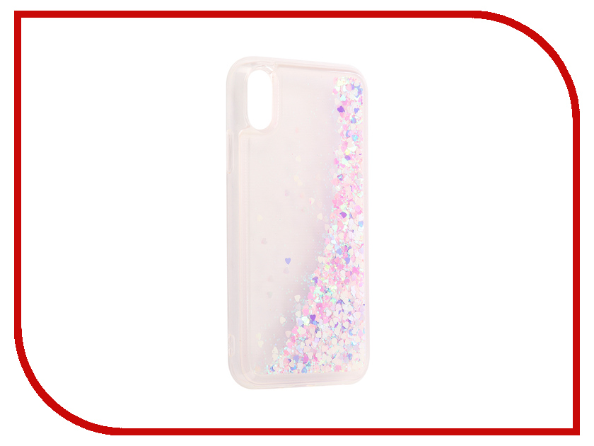 Аксессуар Чехол-накладка DYP Liquid Case для Apple iPhone X Hearts Pink-Silver DYPCR00036 mesh style protective back case for htc one x s720e deep pink