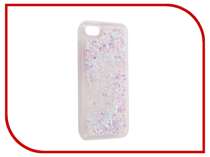 Аксессуар Чехол-накладка DYP Liquid Case для Apple iPhone 7 / 8 Hearts Pink-Silver DYPCR00037 домкрат белак бак 00037 32т