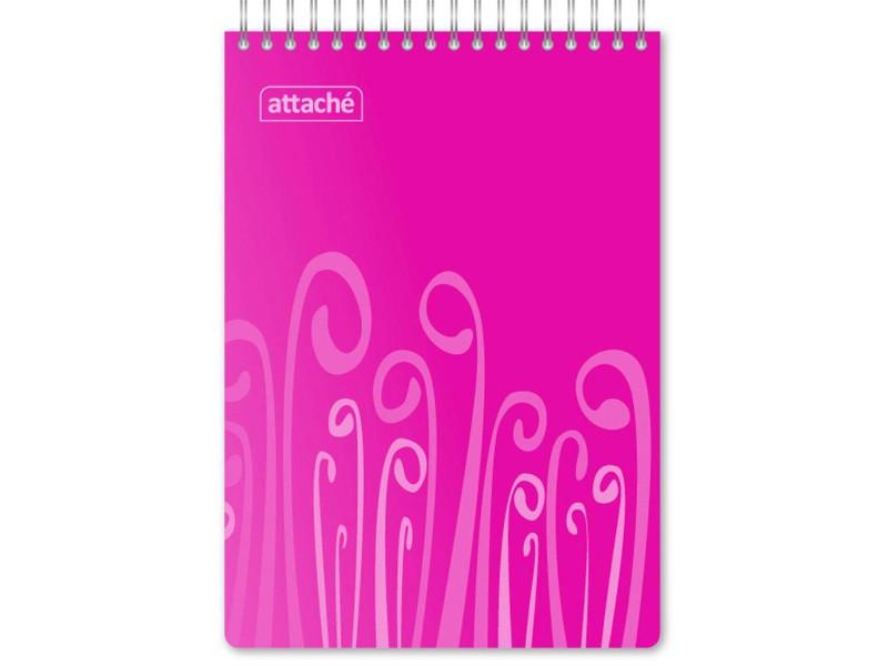 Блокнот Attache Fantasy A5 80 листов Pink 309369 attache блокнот fantasy 80 листов формат а6 цвет оранжевый