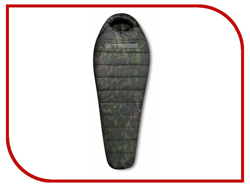 Cпальный мешок Trimm Traper 195 L Camouflage 45599 cпальный мешок high peak pak 1600 23310