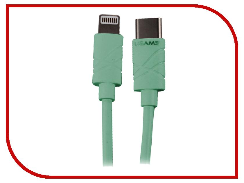 Аксессуар USAMS U-Gee Series US-SJ066 2в1 USB - Type-C/Lightning (8-pin) 1.0m Green аксессуар usams u trans series us sj019 2в1 usb microusb lightning 8 pin blue