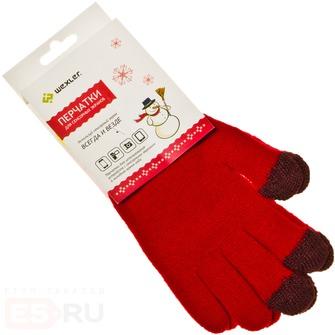 Теплые перчатки для сенсорных дисплеев Wexler Touchscreen Gloves S Red<br>