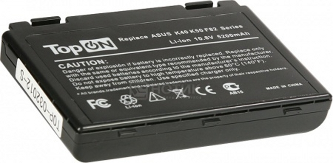 Аккумулятор TopON TOP-K50 5200mAh for ASUS K40 / K50 / K51 / K60 / K61 / K70 / P50 / P81 / F52 / F82 / X65 / X70 / X5 / X8 Series