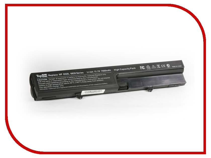 Аккумулятор TopON TOP-6520H 7800mAh - усиленный! for HP Compaq 540 / 541 / 6520s / 6530s / 6531s / 6535s quying laptop lcd screen for hp compaq envy 15t 1100 cto 15 6 inch 1366x768 40pin