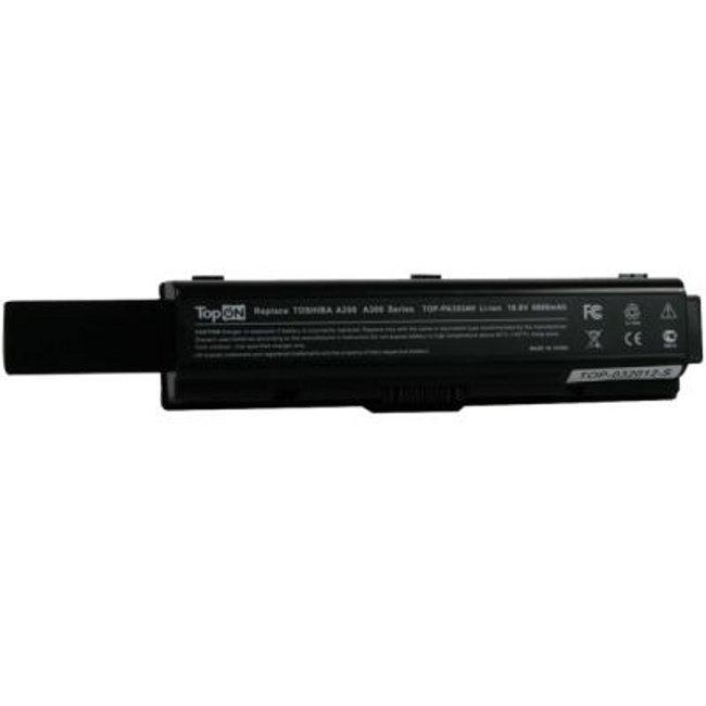 Аккумулятор TopON TOP-PA3534H / PA3535U-1BRS 6600mAh – усиленный! for Toshiba Satellite A200 / A210 / A300 / A500 / L200 / L300 / L500 / L550 / M200