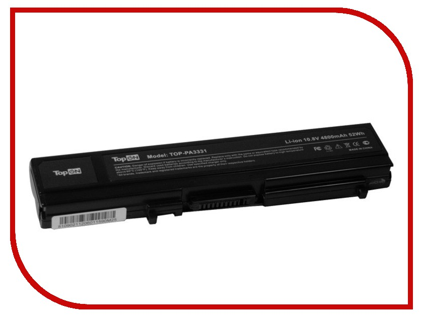 Аккумулятор TopON TOP-PA3331 4800mAh for Toshiba Satellite Pro M30 / M35 Series аккумулятор