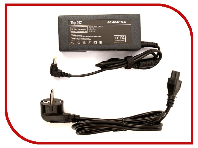 Блок питания TopON TOP-LT01S 19V 75W USB Toshiba Satellite M35 / M45 / M55 / U305 / A100 / A200 / A300