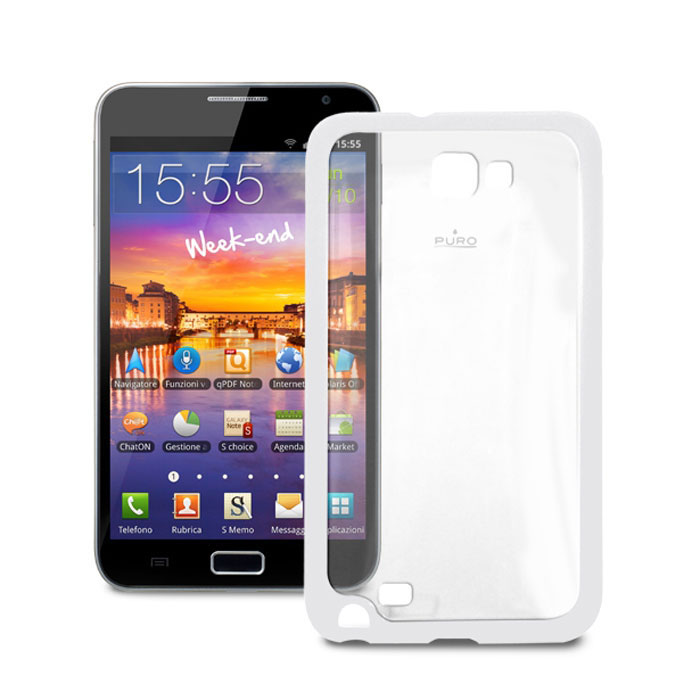 Аксессуар Чехол Samsung Galaxy Note PURO Clear Cover пластиковый White GNOTECLEARWHI от Pleer