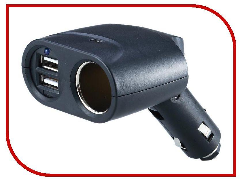 Аксессуар Разветвитель прикуривателя на 1 гнездо и 2 USB выхода WIIIX TR-04U2